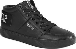 Czarne buty sportowe Big Star z płaską podeszwą sznurowane