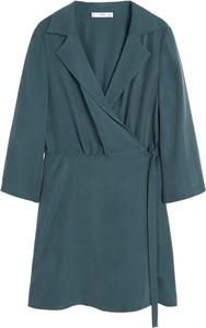 Zielona sukienka Mango mini w stylu casual oversize