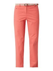 Pomarańczowe spodnie Christian Berg Women z bawełny