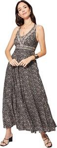 Sukienka Aller Simplement z dekoltem w kształcie litery v na ramiączkach