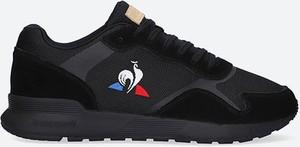 Czarne buty sportowe Le Coq Sportif w sportowym stylu sznurowane