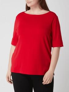 Czerwona bluzka Ralph Lauren w stylu casual z bawełny