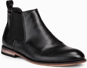 Czarne buty zimowe Ombre