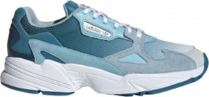 Niebieskie buty sportowe Adidas sznurowane falcon
