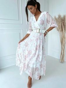Sukienka Versada z długim rękawem kopertowa