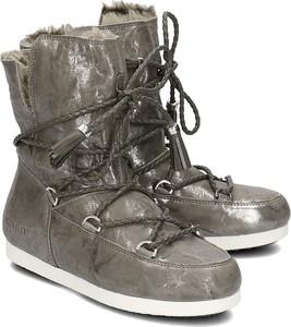 2f14dc31c35c1 Śniegowce Moon Boot w stylu casual z płaską podeszwą sznurowane