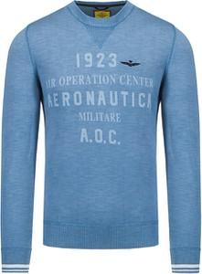 Sweter Aeronautica Militare w młodzieżowym stylu z bawełny