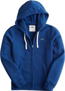Niebieska bluza Hollister Co. z dresówki