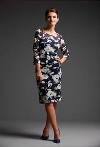 Sukienka Risca z długim rękawem ołówkowa