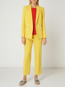 Żółta bluzka Hugo Boss z okrągłym dekoltem z długim rękawem