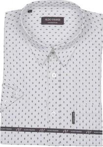 Koszula Aldo Vrandi z krótkim rękawem z bawełny