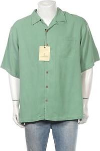 Zielona koszula Tommy Bahama z bawełny