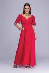 Sukienka Semper maxi z dekoltem w kształcie litery v kopertowa
