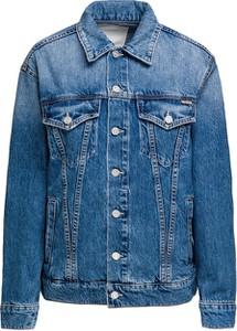 Niebieska kurtka Mother w stylu casual z jeansu krótka