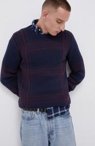 Granatowy sweter PRODUKT by Jack & Jones w stylu casual z okrągłym dekoltem