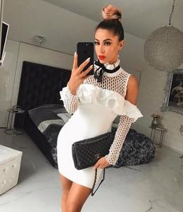 Sukienka Billion Ladies mini bandażowa z długim rękawem