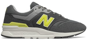 Czarne buty sportowe New Balance ze skóry w sportowym stylu sznurowane