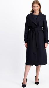 Czarny płaszcz Lavard z wełny