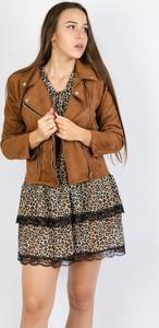 Brązowa kurtka Olika z zamszu w stylu casual