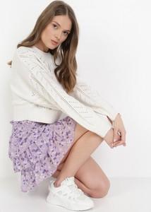 Fioletowa spódnica born2be w stylu casual mini