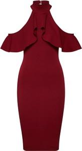 Czerwona sukienka Missguided midi