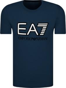 T-shirt Emporio Armani z nadrukiem z krótkim rękawem