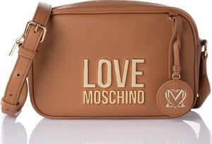 Brązowa torebka Moschino ze skóry