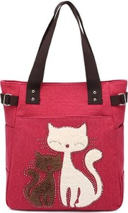 Czerwona torebka Cikelly w młodzieżowym stylu duża na ramię