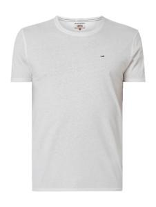 T-shirt Tommy Jeans w street stylu z krótkim rękawem z dżerseju