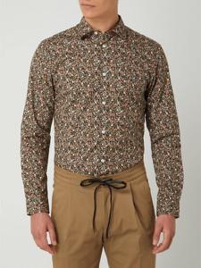Brązowa koszula Selected Homme z bawełny z klasycznym kołnierzykiem