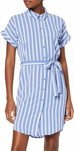 Sukienka amazon.de z krótkim rękawem koszulowa