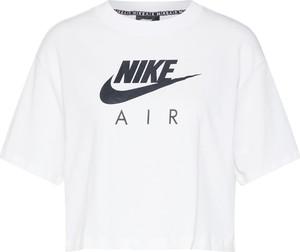 Bluzka Nike Sportswear z okrągłym dekoltem z bawełny w młodzieżowym stylu