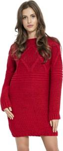 Czerwona sukienka Fobya mini z wełny