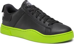 Czarne buty sportowe Diesel sznurowane
