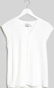 ASOS DESIGN Maternity – Biała bluzka origami z dekoltem w kształcie litery V-Biały