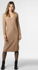 Brązowa sukienka Esprit midi