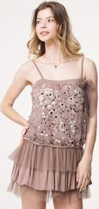Sukienka born2be w stylu glamour mini trapezowa