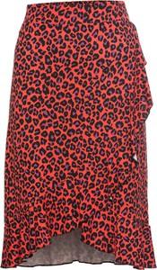 Czerwona spódnica bonprix BODYFLIRT midi w stylu casual
