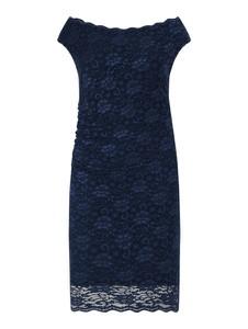 Granatowa sukienka Swing Curve z krótkim rękawem z okrągłym dekoltem