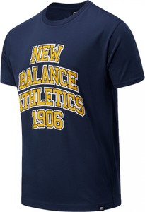 T-shirt New Balance w młodzieżowym stylu z krótkim rękawem