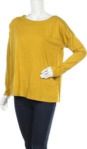 Żółta bluzka Colline z okrągłym dekoltem