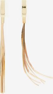 Reserved - Długie kolczyki z frędzlami - Złoty