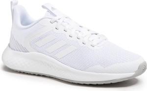 Buty sportowe Adidas sznurowane ze skóry ekologicznej