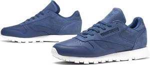 Niebieskie buty sportowe Reebok ze skóry z płaską podeszwą w młodzieżowym stylu