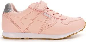 Różowe buty sportowe dziecięce American Club na rzepy dla dziewczynek