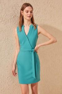 Niebieska sukienka Trendyol bez rękawów mini