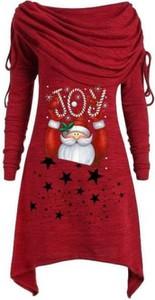 Czerwona sukienka Cikelly z okrągłym dekoltem mini w stylu casual