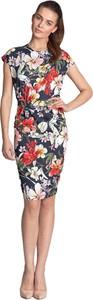 Sukienka Nife midi z krótkim rękawem ołówkowa