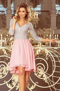Sukienka 4myself.pl asymetryczna mini z długim rękawem