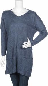 Niebieski sweter Pretty Winter w stylu casual
